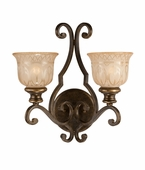 Norwalk Collection 2 Light Sconces shown in Bronze Umber by Crystorama Lighting