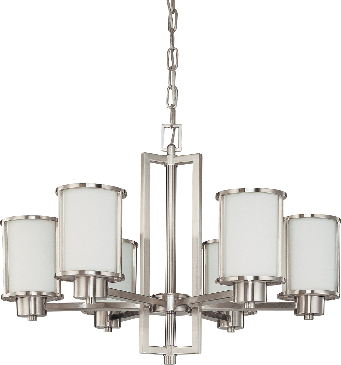 Nuvo lighting 60 2853 odeon 6 light convertible up down chandelier with s - Table transformable up down ...