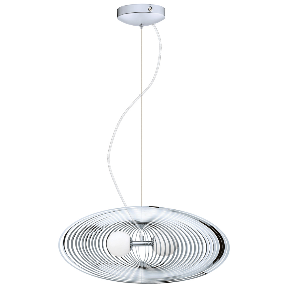 Eglo Lighting 200238A Omano 13 1 2 Inch Pendant In Chrome
