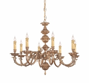 Oxford Collection 8 Light Chandeliers shown in Olde Brass by Crystorama Lighting