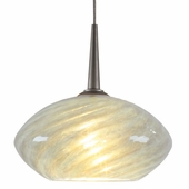 Pandora Down Pendant with LED Option by Bruck Lighting