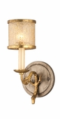 Corbett Lighting (66-61) Parc Royale 1 Light Bath shown in Gold And Silver Leaf