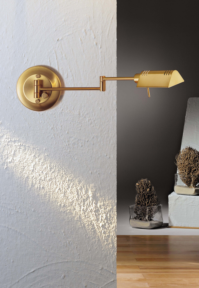 pharmacy sconce halogen swing arm wall sconce shown in antique brass by holtkoetter lighting brass swing arm wall