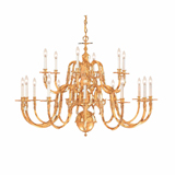 Polished Brass Chandeliers