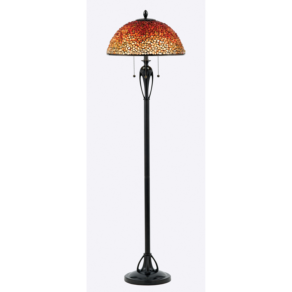 Pomez- European Style Pomez Tiffany Floor Lamp In Burnt Cinnamon Finish From Quoizel Lighting- TF135FBC