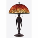 Pomez- European Style Pomez Tiffany Table Lamp In Burnt Cinnamon Finish From Quoizel Lighting- TF135TBC