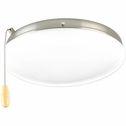 Progress Lighting AirPro Collection (P2602-09) 2 Light Universal Fan Light Kit shown in Brushed Nickel with White Opal Glass