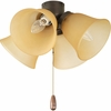 Progress Lighting AirPro Collection (P2643-20T) 4 Light Universal Fan Light Kit shown in Antique Bronze with Etched Light Topaz Glass