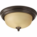 "Progress Lighting (P3924-20T) 11-3/8"" Flush Mount"