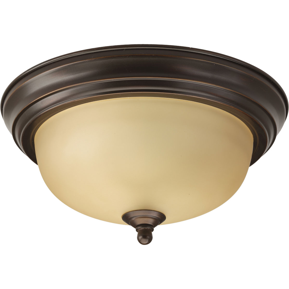 Progress Lighting (P3924-20T) Melon 1 Light Flush Mount in Antique Bronze