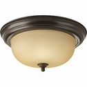 Progress Lighting (P3925-20T) 2 Light Flush Mount in Antique Bronze