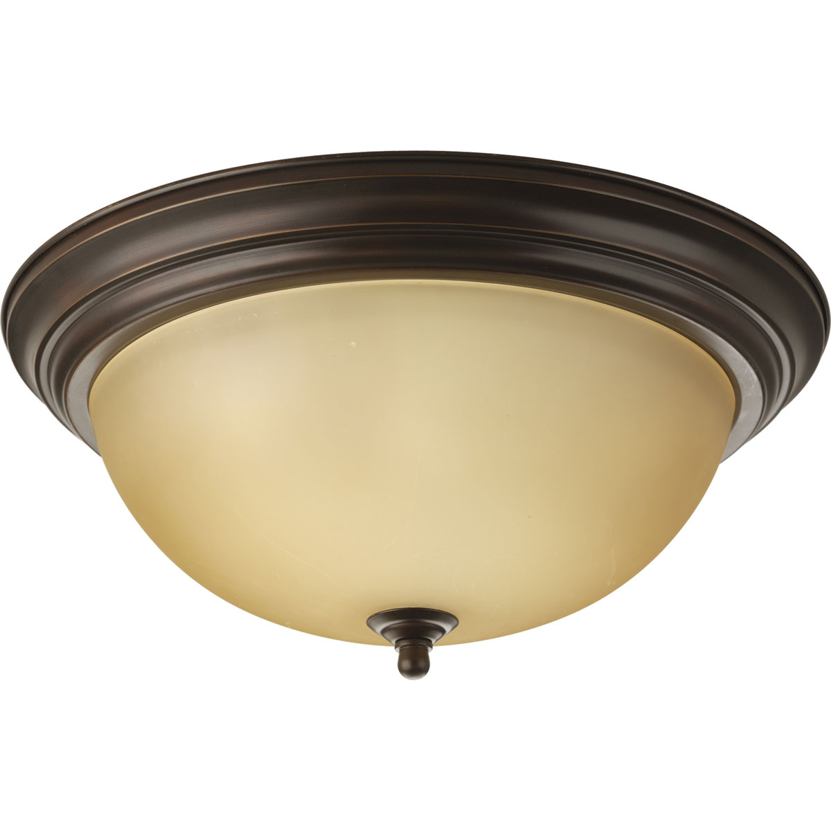 Progress Lighting (P3926-20T) 3 Light Dome Shaped Flush Mount in Antique Bronze