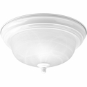 Progress Lighting (P3924-30) Melon 1 Light Flush Mount in White