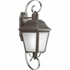 Progress Lighting Andover Collection (P5888-20) Traditional/Classic 1 Light Outdoor CFL Wall Lantern shown in Antique Bronze with Etched Glass