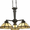 Progress Lighting (P4101-46) Arts and Crafts 3 Light Chandelier in Weathered Bronze