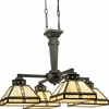 Progress Lighting (P4102-46) Arts and Crafts 4 Light Chandelier in Weathered Bronze