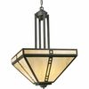 Progress Lighting (P3620-46) Arts and Crafts 4 Light Hall & Foyer Fixture in Weathered Bronze