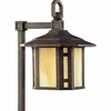 Progress Lighting (P5272-46) Arts and Crafts 1 Light Landscape in Weathered Bronze