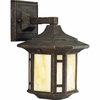 Progress Lighting (P5628-46) Arts and Crafts 1 Light Outdoor Wall Lantern in Weathered Bronze