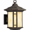 Progress Lighting (P6018-46) Arts and Crafts 1 Light Outdoor Wall Lantern in Weathered Bronze