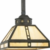 Progress Lighting (P5020-46) Arts and Crafts 1 Light Mini-Pendant in Weathered Bronze