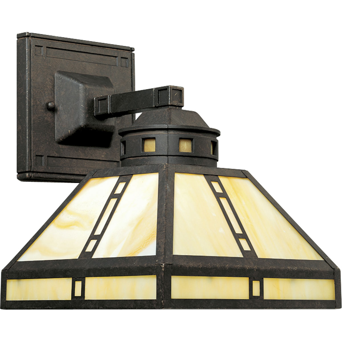 Progress Lighting (P2900-46) Arts and Crafts 1 Light Wall Bracket in Weathered Bronze