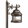 Progress Lighting Ashmore Collection (P5250-20) Traditional/Casual 1 Light Landscape Fixture shown in Antique Bronze with Water Seeded Glass