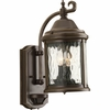 Progress Lighting Ashmore Collection (P5854-20) Traditional/Casual 2 Light Outdoor Wall Lantern shown in Antique Bronze with Water Seeded Glass