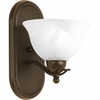 Progress Lighting Avalon Collection (P3266-20) Traditional/Casual 1 Light Bath Bracket shown in Antique Bronze with Alabaster Glass