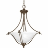 Progress Lighting Avalon Collection (P3773-20) Traditional/Casual 3 Light Foyer Fixture shown in Antique Bronze with Alabaster Glass