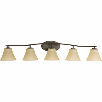 progress lighting p2016 20 bravo 5 light bath vanity fixture. Black Bedroom Furniture Sets. Home Design Ideas