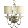 Thomasville Lighting Chanelle Collection (P3292-34) Traditional/Formal 2 Light Wall Bracket shown in Antique Silver with Matching Hand Painted Candle Sleeves Glass