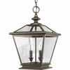 Thomasville Lighting Crestwood Collection (P3902-20) Traditional/Classic 2 Light Foyer Fixture shown in Antique Bronze with Clear Glass