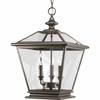 Thomasville Lighting Crestwood Collection (P3903-20) Traditional/Classic 3 Light Foyer Fixture shown in Antique Bronze with Clear Glass