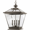Thomasville Lighting Crestwood Collection (P3904-20) Traditional/Classic 4 Light Foyer Fixture shown in Antique Bronze with Clear Glass