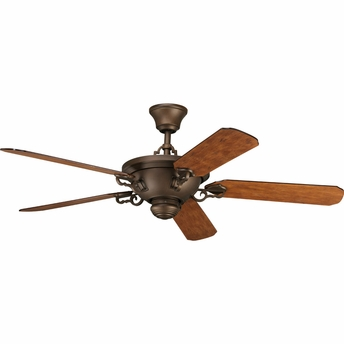 Thomasville Lighting Meeting Street Collection (P2527-102) Traditional/Casual 58 inch 5-Blade Fan shown in Roasted Java