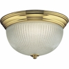 Progress Lighting (P7364-10EBWB) Melon 2 Light CFL Flush Mount in Polished Brass