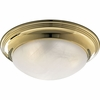 Progress Lighting (P3760-10EBWB) Melon 2 Light Flush Mount in Polished Brass