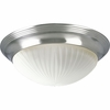 Progress Lighting (P3762-09EBWB) Melon 2 Light Flush Mount in Brushed Nickel