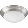 Progress Lighting (P3765-09EBWB) Melon 2 Light Flush Mount in Brushed Nickel