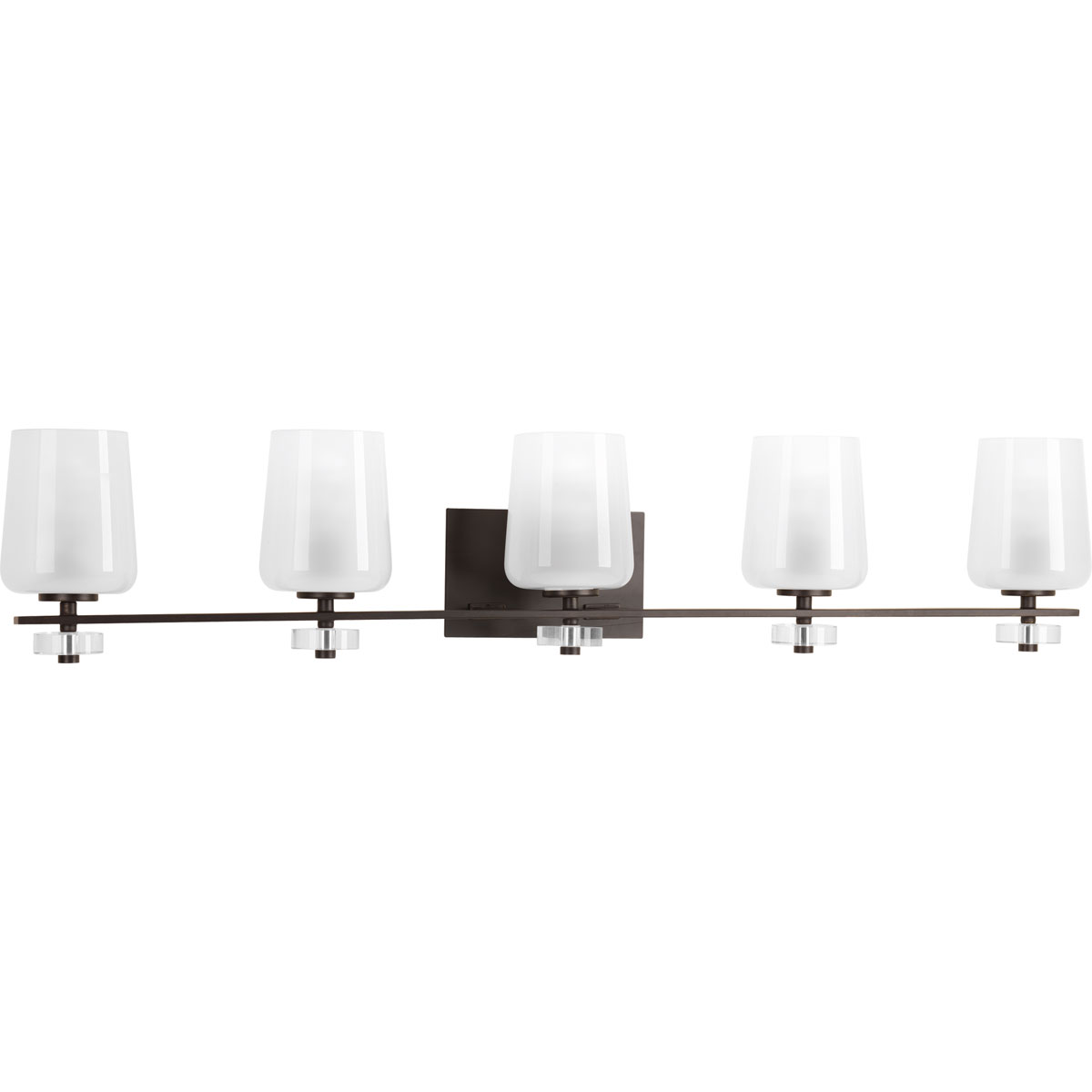 progress lighting p3105 20 indulge 5 light bath vanity fixture. Black Bedroom Furniture Sets. Home Design Ideas