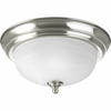 Progress Lighting (P3924-09EB) Melon 1 Light CFL Flush Mount in Brushed Nickel