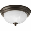 Progress Lighting (P3924-20EB) Melon 1 Light CFL Flush Mount in Antique Bronze