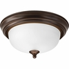 Progress Lighting (P3924-20ET) Melon 1 Light Flush Mount in Antique Bronze
