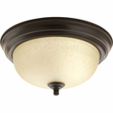 Progress Lighting (P3924-20EUL) Melon 1 Light Flush Mount in Antique Bronze