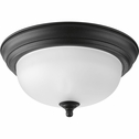 Progress Lighting (P3924-80) Melon 1 Light Flush Mount in Forged Black
