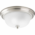 Progress Lighting (P3925-09ET) 2 Light Flush Mount in Brushed Nickel