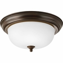 Progress Lighting (P3925-20ET) 2 Light Flush Mount in Antique Bronze