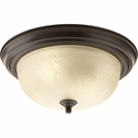 Progress Lighting (P3925-20EUL) 2 Light Flush Mount in Antique Bronze
