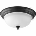 Progress Lighting (P3925-80) Melon 2 Light Flush Mount in Forged Black